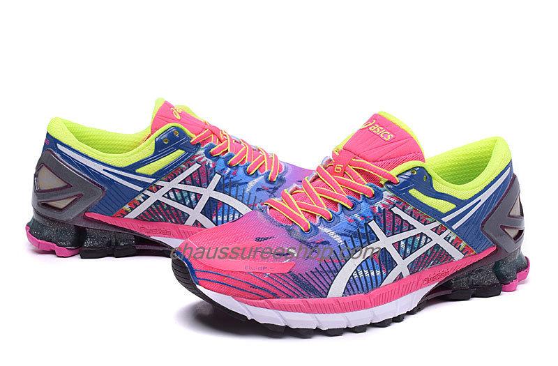 sale top design super specials Laissez vos pieds parler avec les basket asics bleu et rose de ...